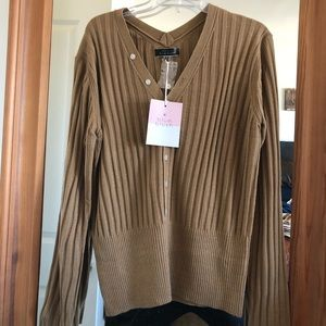 ***NWT BLUE BLUSH SWEATER BROWN SIZE M***